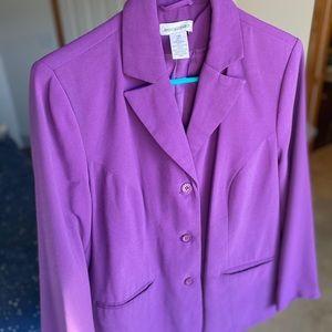 Vintage Jessica London Skirt Suit Purple 2 PC Set!